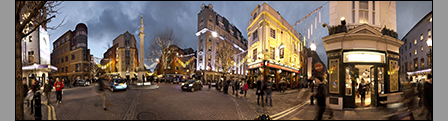 Seven Dials - By Night