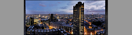 London from the Barbican: Post Sunset