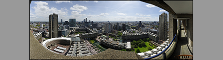 London from the Barbican: Noonday Sun