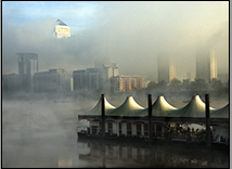 Fog Over the Isle of Dogs, London